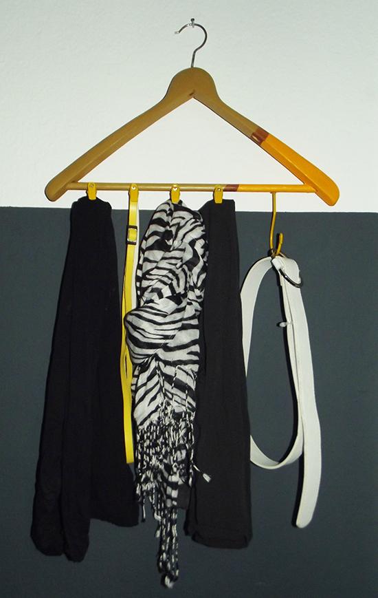 cabideiro, cabide colorido, cabide, hanger, guardar lenços, guardar cintos, faça você mesmo, diy, decoração, organização