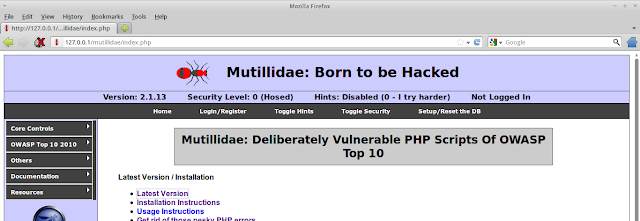 Mutillidae 2.1.17 : Born to be Hacked