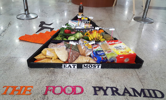 The Food Pyramid  at entrance of the Hospital