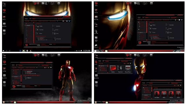 Iron Man Skinpack for Windows 10