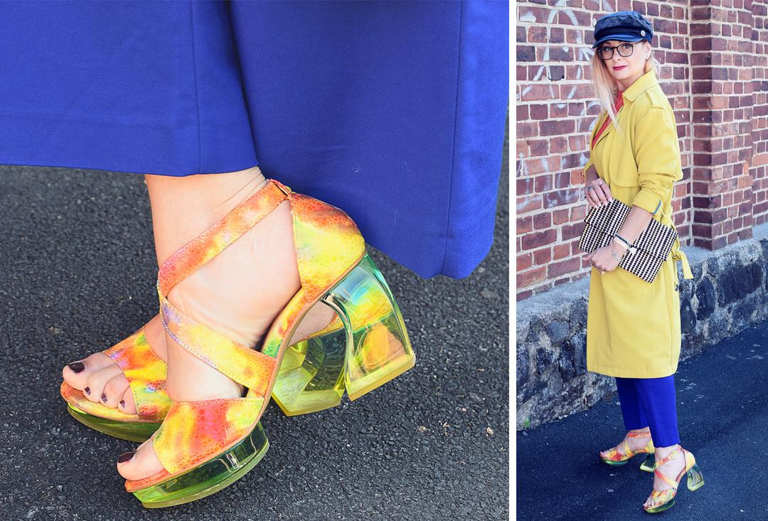 Damenschuhe von Tiggers für Frauen, Colorblocking Look, Culotte kombinieren,