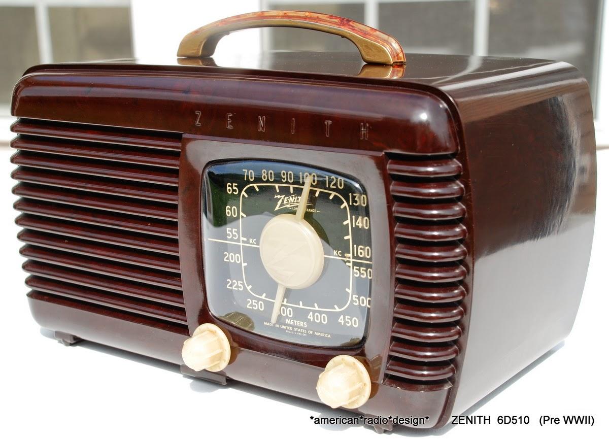 american radio design deco mid century retro styled vintage tube radios zenith pre. Black Bedroom Furniture Sets. Home Design Ideas