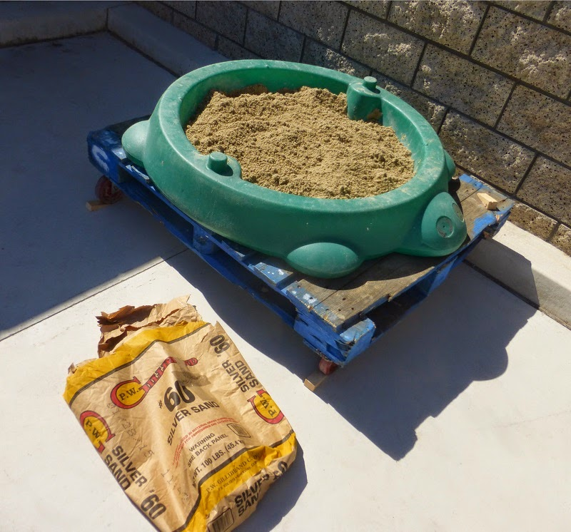 turtle sandbox with greensand