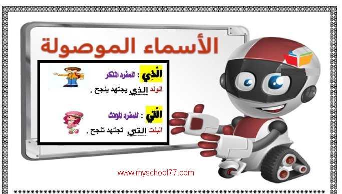 مذكرة لغة عربية تانيه ابتدائى ترم اول 2020- موقع مدرستى