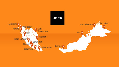 Source: Uber. Uber is available in 15 cities in Malaysia.