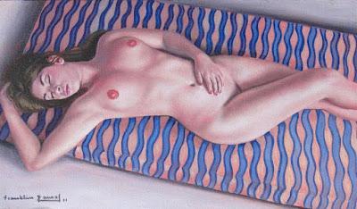 Franklin Ramos Desnudo Femenino Pintura