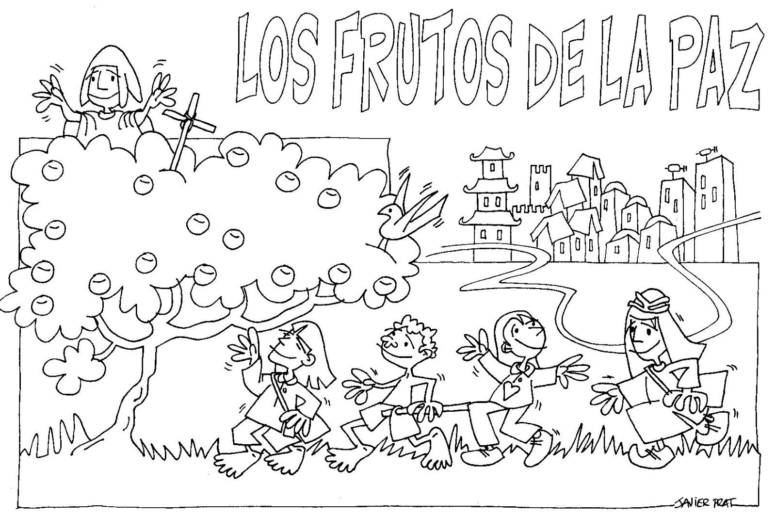 Imágenes Para Colorear Dibujos Del Día De La Paz: Dibujos Para El Dia De La Paz