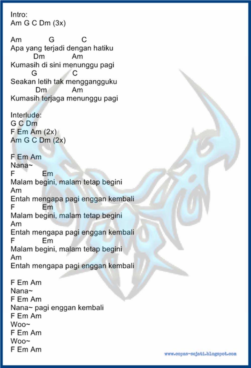 Chords for Peterpan - Menunggu Pagi
