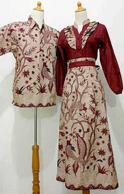 Kreasi Baju Muslim Batik Couple Berdesain Modern Berikan