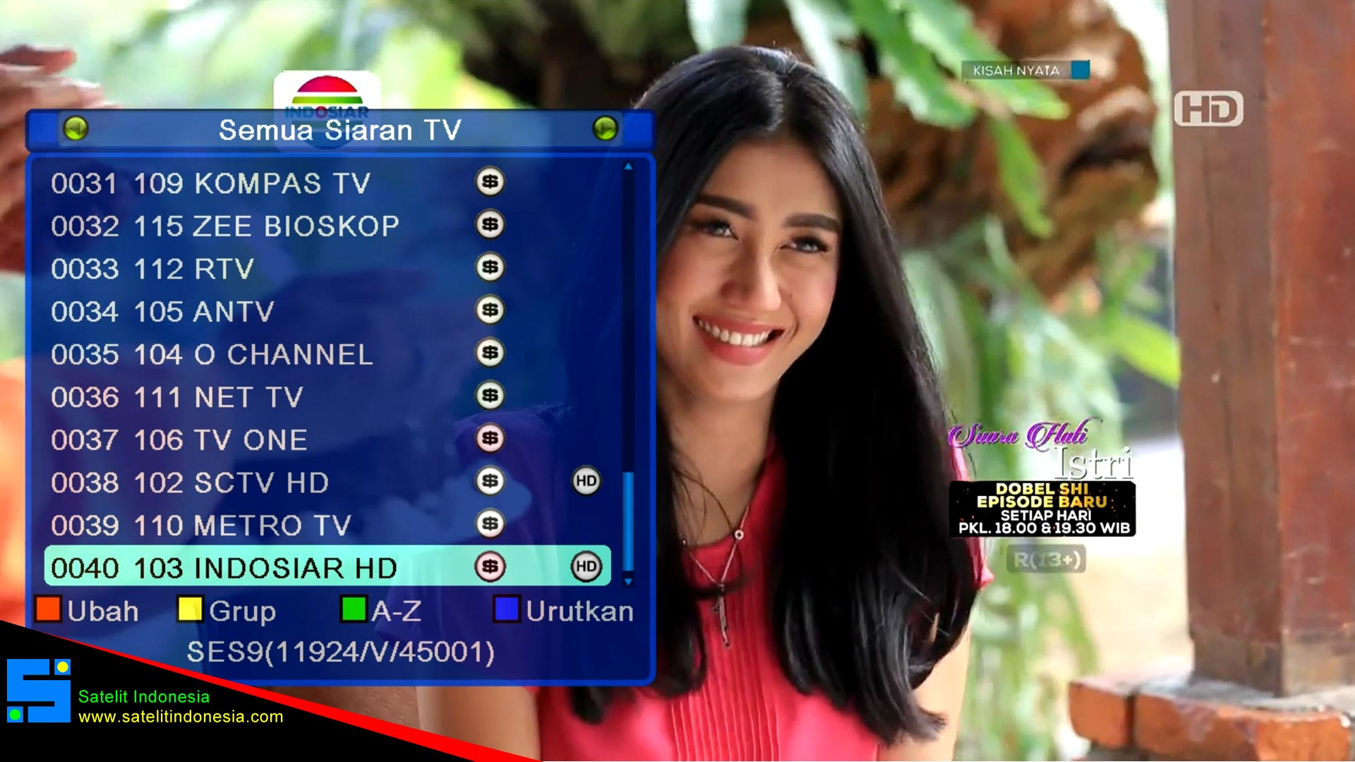 Daftar Channel Premium Matrix Sinema di SES 9 Ku Band