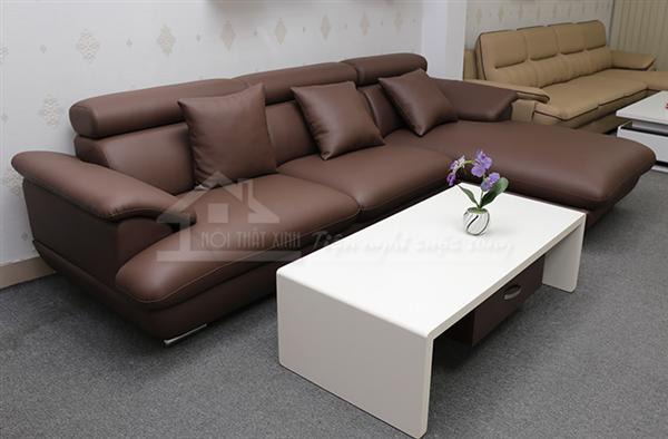Ghế sofa da đẹp với chân bom
