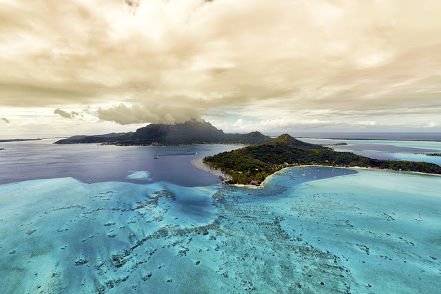 Aerial view of Bora Bora Island
