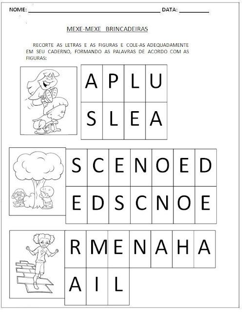 Atividades para Alfabetização - Mexe-Mexe 6