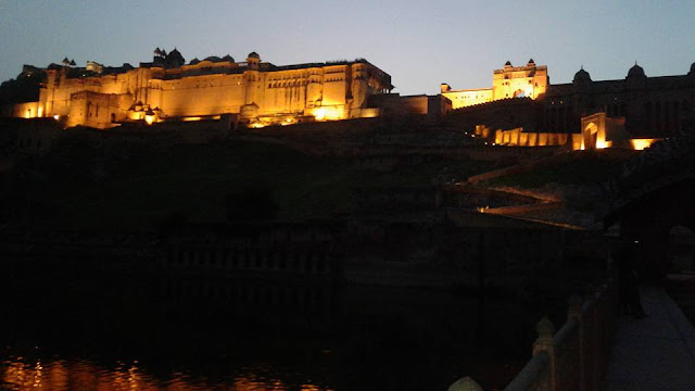 Amer Fort And Palace Night View - Places To Visit In Jaipur