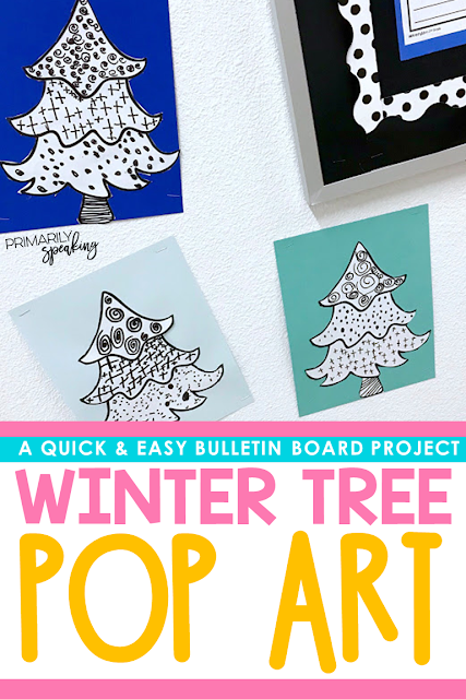 easy winter bulletin board idea and tutorial