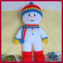 Hombre de nieve en punto