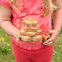 Lotes Toys Wooden Mini Stacking Flower (PY23)