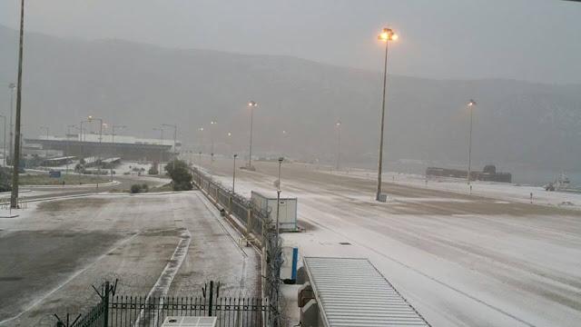 Ηγουμενίτσα: Χιόνισε μέχρι και τα καράβια (+ΒΙΝΤΕΟ)