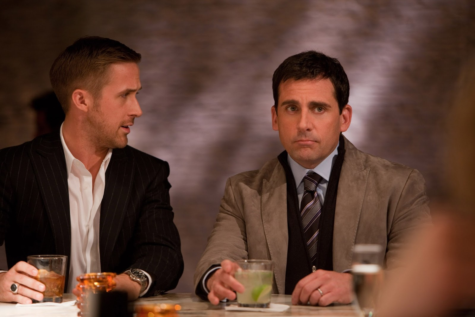 Ryan Gosling & Steve Carell, Crazy, Stupid, Love.