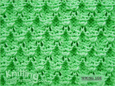 3D bubbles  | Reversible knitting stitch