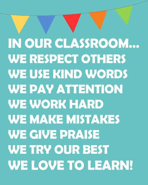 In our classroom we respect others. In our classroom we love to learn!