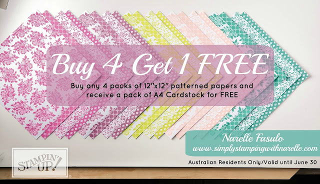 Buy 4 Get 1 FREE - Narelle Fasulo - Simply Stamping with Narelle - shop here - https://www3.stampinup.com/ecweb/default.aspx?dbwsdemoid=4008228