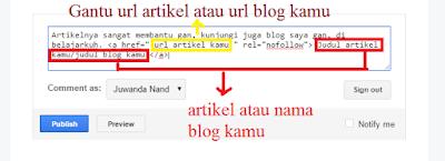 Cara Cepat Membuat Link di Komentar Blog