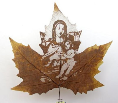 Arte en hoja de maple