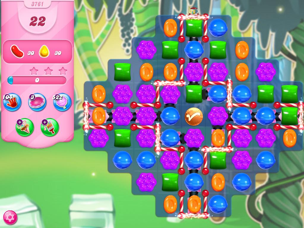 Candy Crush Saga level 3761
