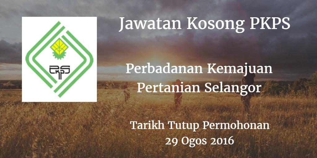 Jawatan Kosong PKPS 29 Ogos 2016