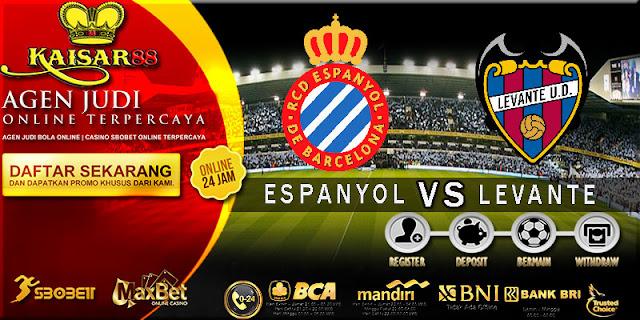 PREDIKSI TEBAK SKOR JITU LIGA SPANYOL ESPANYOL VS LEVANTE 14 OKTOBER 2017