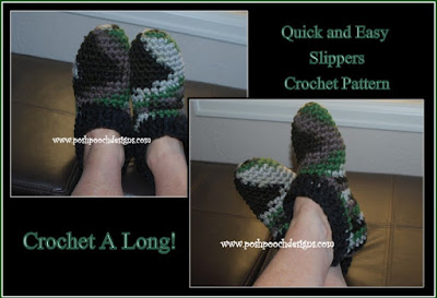 Super Easy and Quick Slipper Crochet Pattern And Crochet a Long