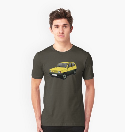Fiat Panda t-shirts on Redbubble