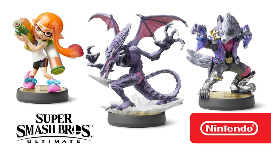 super smash bros ultimate inkling ridley wolf amiibo