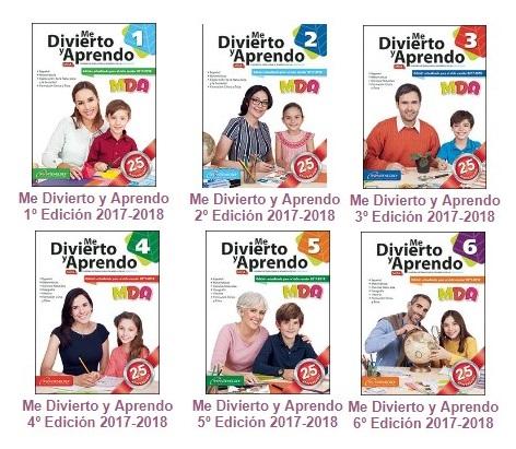 Colección Me Divierto y Aprendo de 1° a 6° de primaria