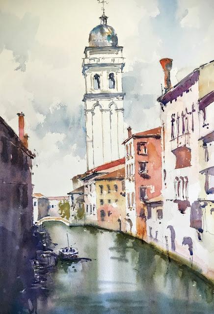 Venice watercolor Chiesa di Santa Maria della Visitazione
