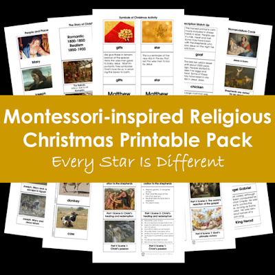 Montessori-inspired Religious Christmas Printable Pack