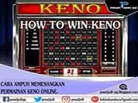 Cara ampuh Menang permainan Keno online dengan mudah - Pusat Judi.
