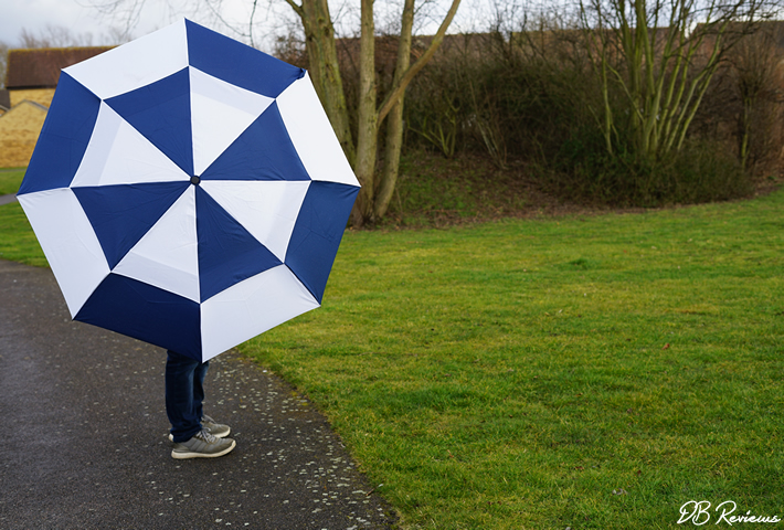 Susino XL Compact Navy and White FibreAuto Golf Umbrella