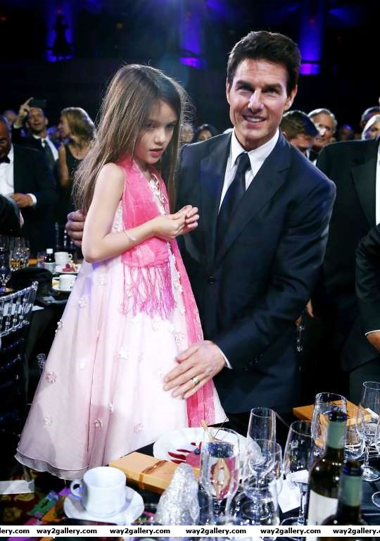 Tom Cruise with daughter Suri at the Entertainment Icon Award ceremony in New York on June