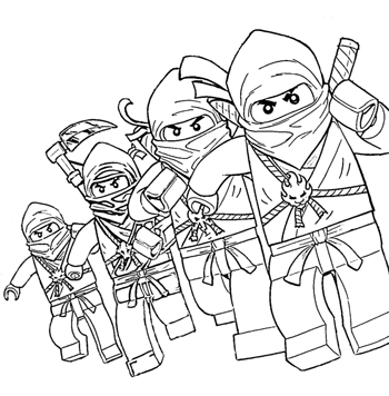 Lego ninjago coloring pages squid army for Lego dragon coloring pages