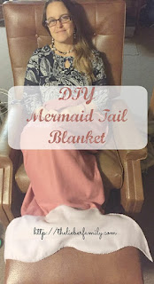Blog With Friends, a multiblogger collabortive post based on a theme. This month's theme is Warm and Cozy | Rabia of The Lieber Family Blog shares How to Make a Mermaid Tail Blanket | shared on www.BakingInATornado.com | #BlogWithFriends