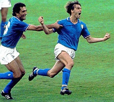 Marco Tardelli loses himself in his joy after scoring in the 1982 World Cup final