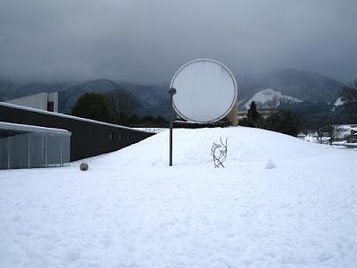 雪の奈義町現代美術館