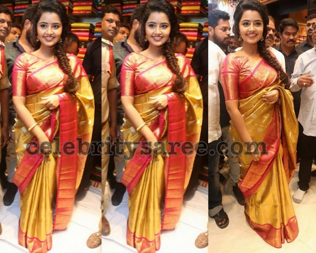 Anupama Parameswaran at VRK Silks