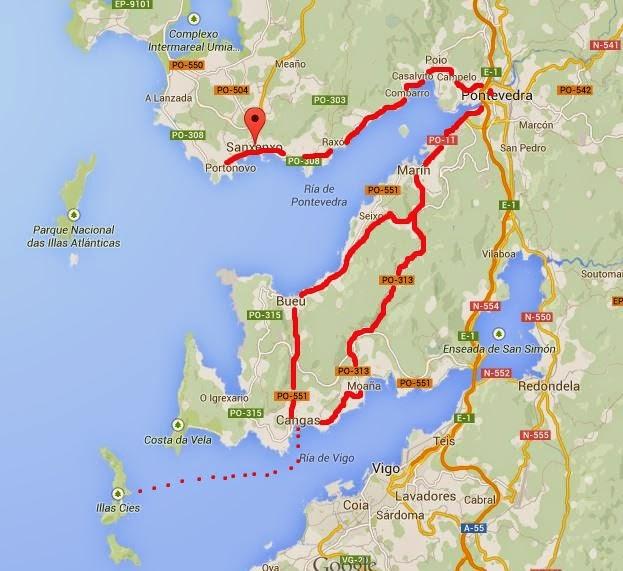 ruta por las rías Baixas, un día en las islas Cíes