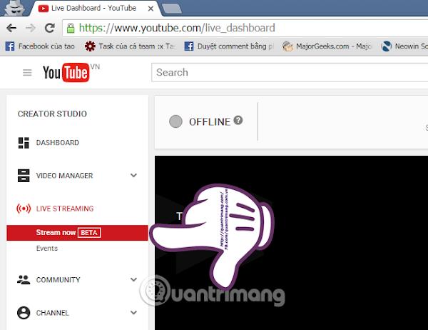 Phần mềm stream live video trên Youtube bằng máy tính, laptop