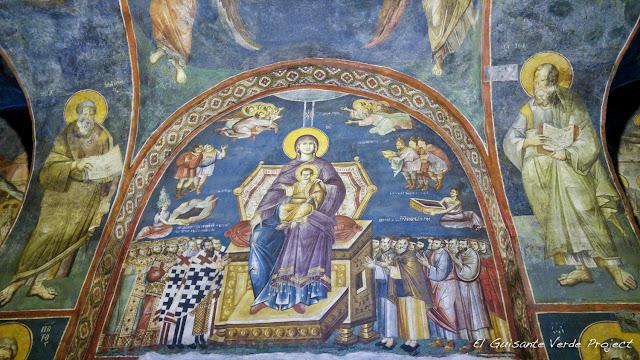 Fresco de la Iglesia Santa Madre de Dios Peribleptos, Ohrid - Macedonia por El Guisante Verde Project
