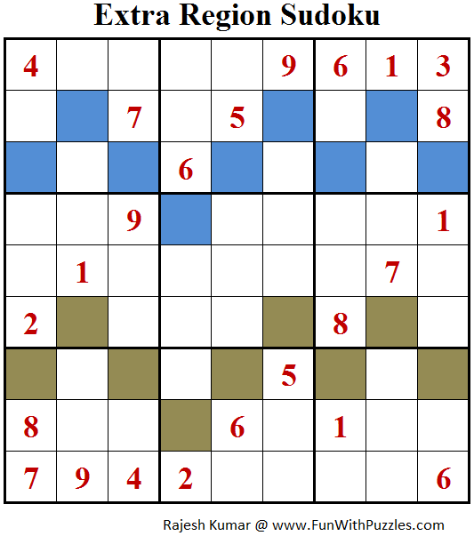 Extra Region Sudoku (Fun With Sudoku #130)