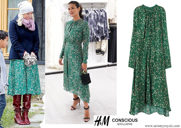 Crown Princess Mette Marit wore H&M Conscious Exclusive Silk Printed Dress